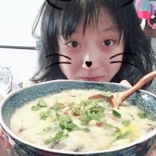 #吃秀##粥#皮蛋➕虾米➕枸杞➕🌽粒煮的粥~