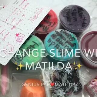 #slime##交换礼物#exchange gift with Matilda slime的味道都超好闻 超棒!还送了别的礼物给我❤️❤️#我要上热门#@美拍小助手 @Matildaupdates🥀