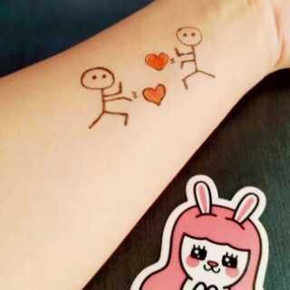 #手工##手绘#💁小手绘,喜欢吗?💕🤗(闺蜜,情侣小手绘)