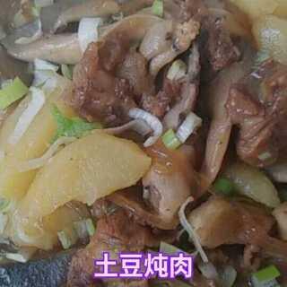 #土豆的各类吃法#炖菜是所有菜品里面最简单的一个了,不要求色相,只求有味熟了即可,看看我的土豆炖肉怎么样?#美食##我要上热门@美拍小助手#