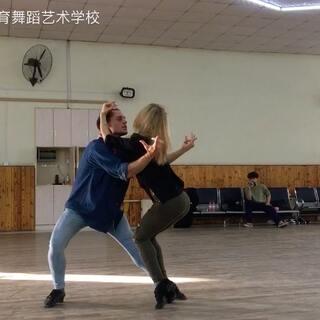 丹麦冠军乌贝托&路易斯来我校授课进行时~Rumba Show!😍#舞蹈##拉丁舞##我要上热门#