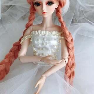 婚纱#夜萝莉婚纱娃娃##婚纱##原创手工#